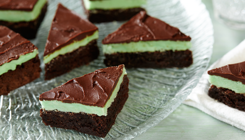 Chocolate and Mint Layer Triangles