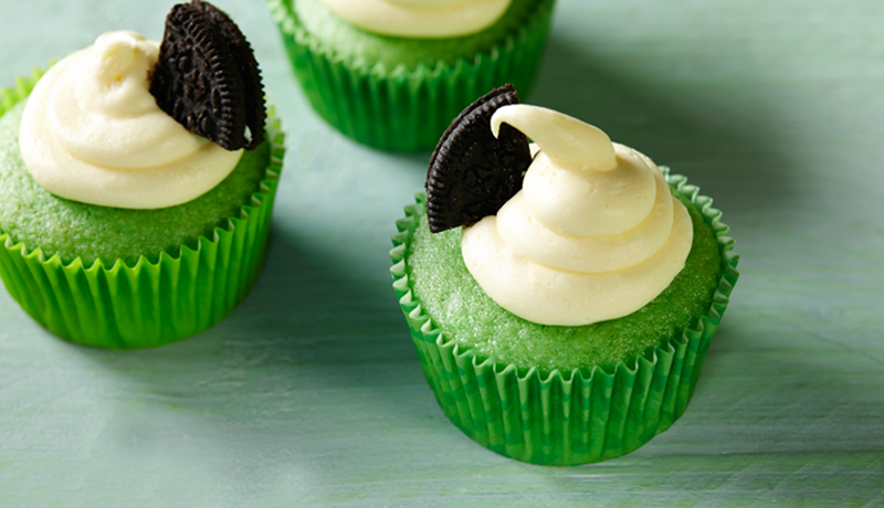 St. Patrick's Day Mint Cupcakes