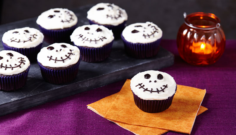 Chocolate Skeleton Cupcakes