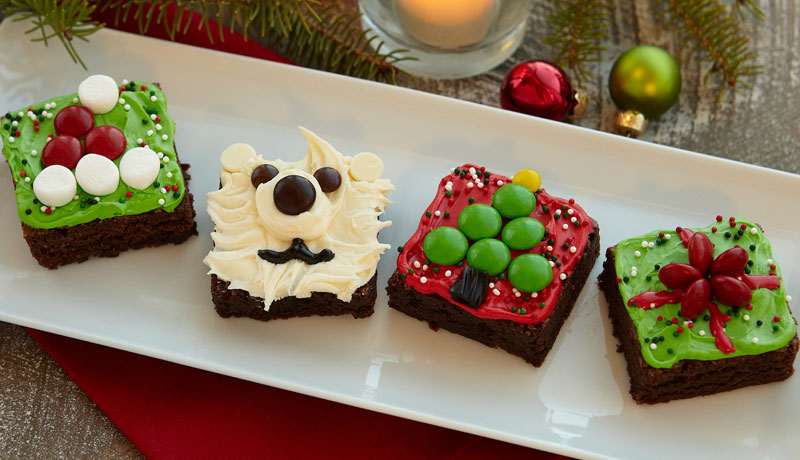 Christmas Brownie Squares Baking Recipes Betty Crocker Au
