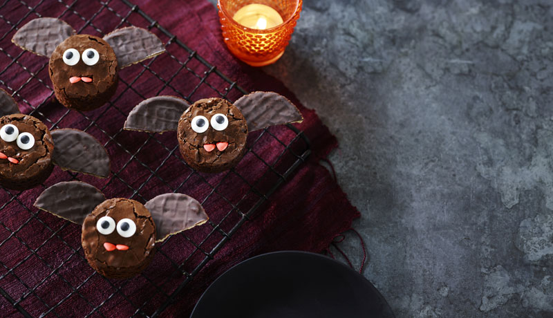 Halloween Brownie Bats