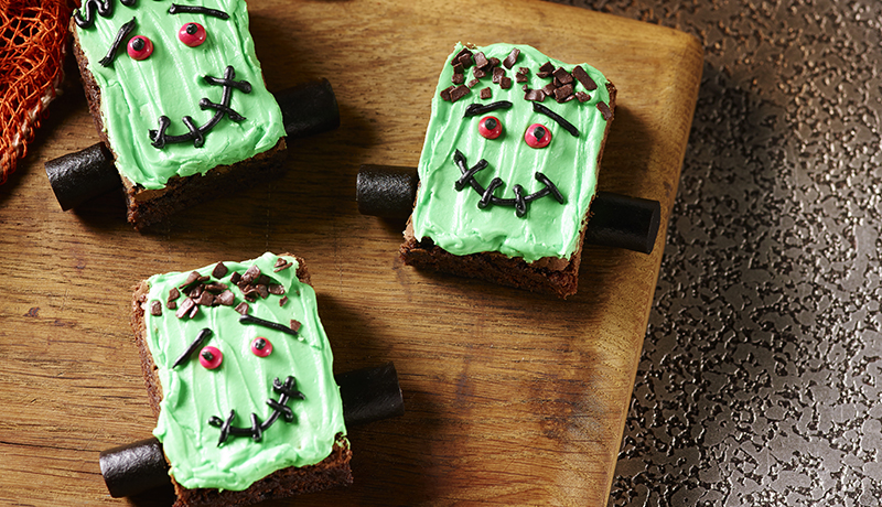 Halloween Frankenstein Brownies