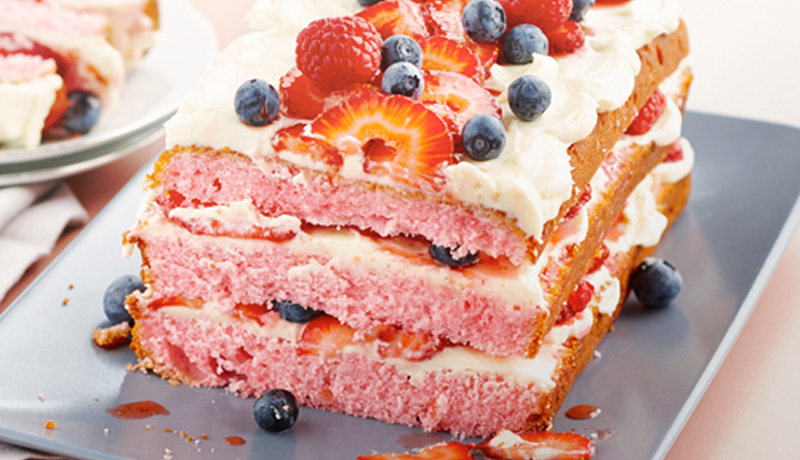Berry Misu Layered Cake