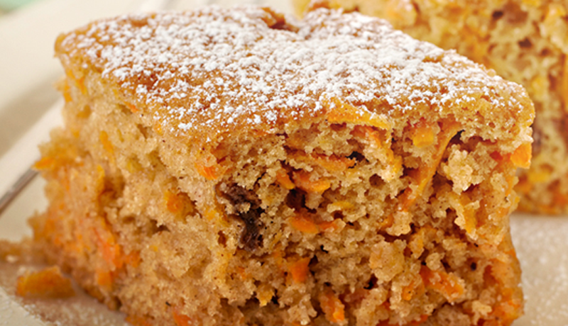 Carrot Apple And Cinnamon Slice
