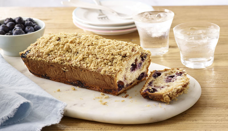 Blueberry Banana Oat Bread