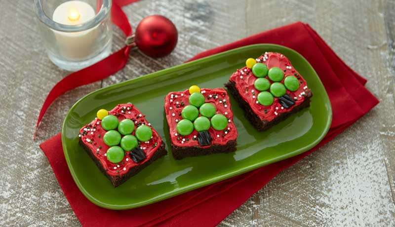 Christmas Gift Brownie Squares