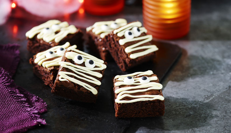 Halloween Mummy Brownies