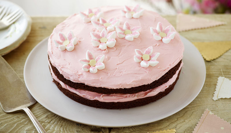 Mother's Day Flower Brownie Cake